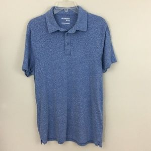 Old Navy Marled Blue Three-Button Henley